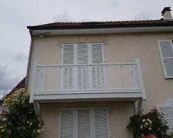 Balcon, menuiserie bois - Mantes-la-Jolie