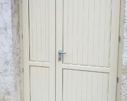 porte bois, deux vantaux, tierce, menuiserie - Mantes la Jolie